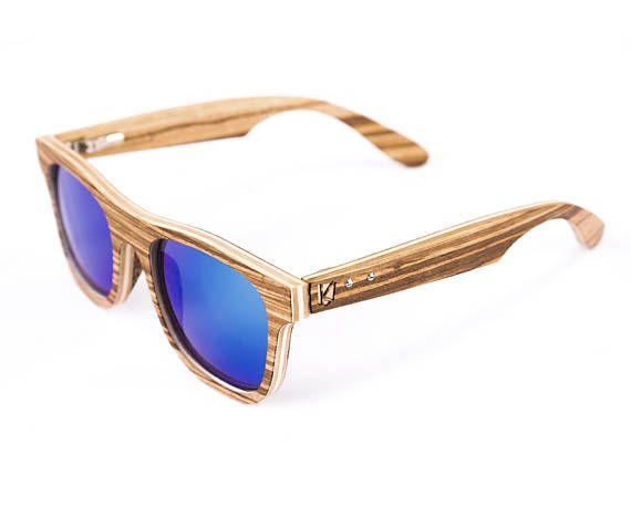 Bois de zebrano Mens lunettes verres en bois cadeau pour