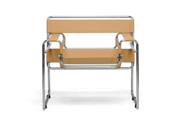 Strap Chair in Tan Leather | dotandbo.com