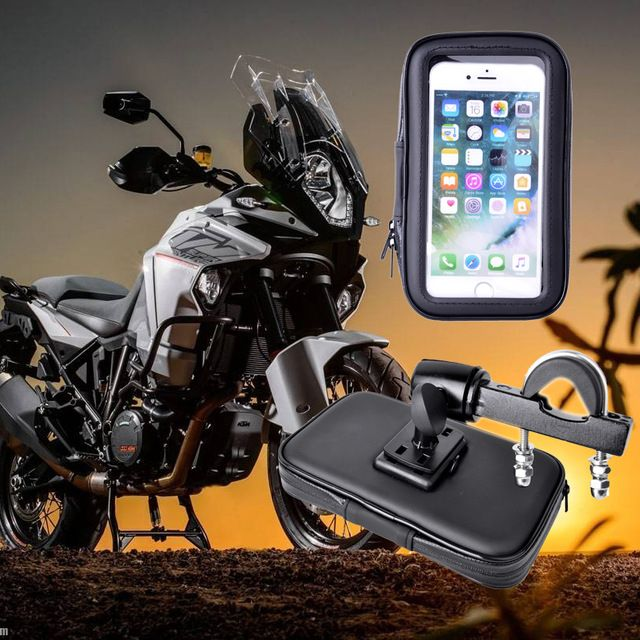 Great Buy $13.48, Buy 2018 Waterproof Motorcycle GPS Holder Stand Support for iPhone5 6 7Plus Bicycle Phone Holder Phone Bag Moto Suporte Para Celular