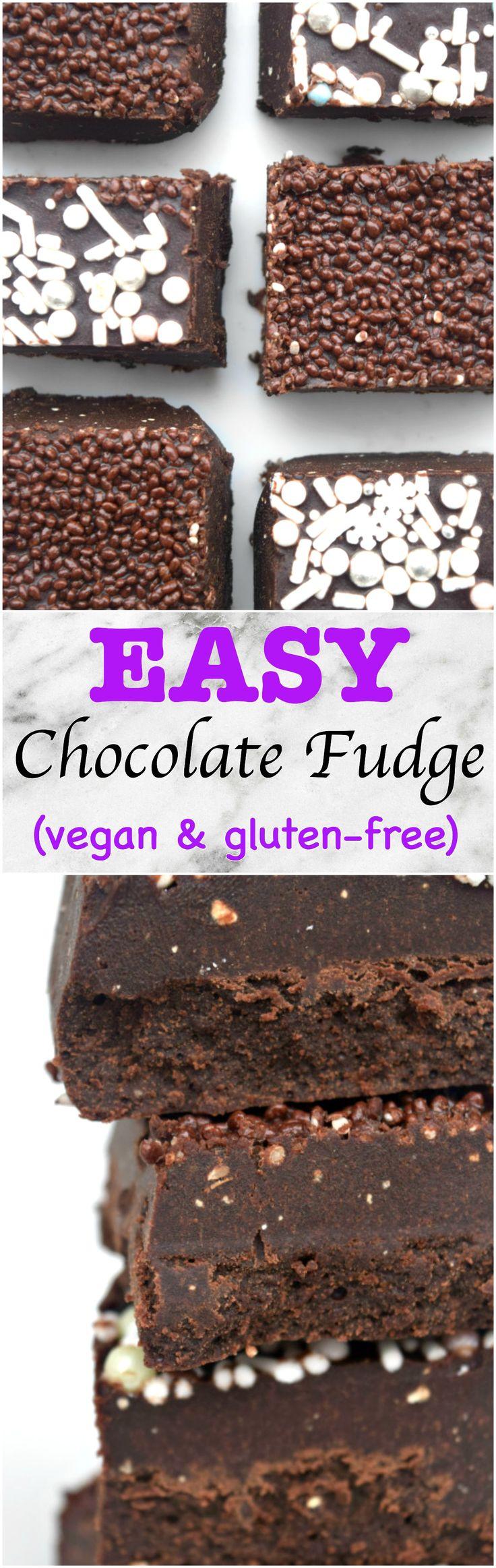Easy vegan and gluten-free FUDGE!