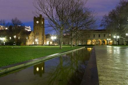 Melbourne Uni south lawn