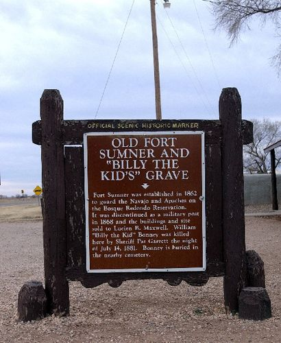 Fort Sumner, NM Billy the kid grave