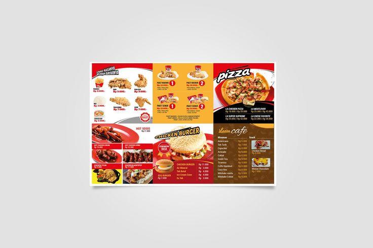 Brochure design laziza fried chicken