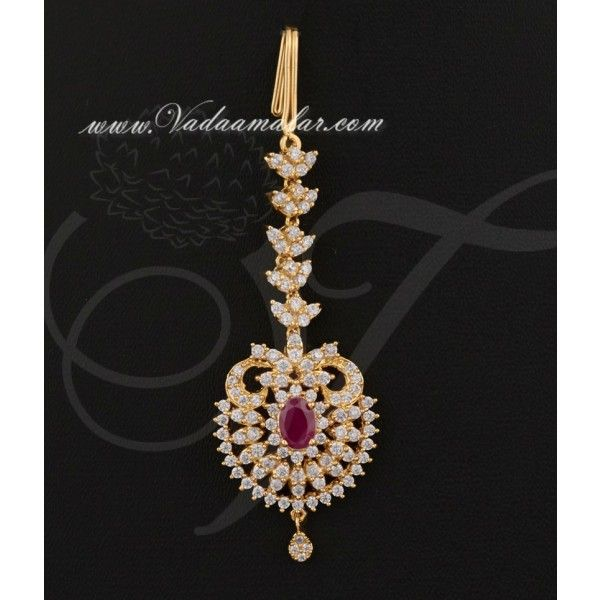 American Diamond Pendant Maang Tikka Chutti Buy online