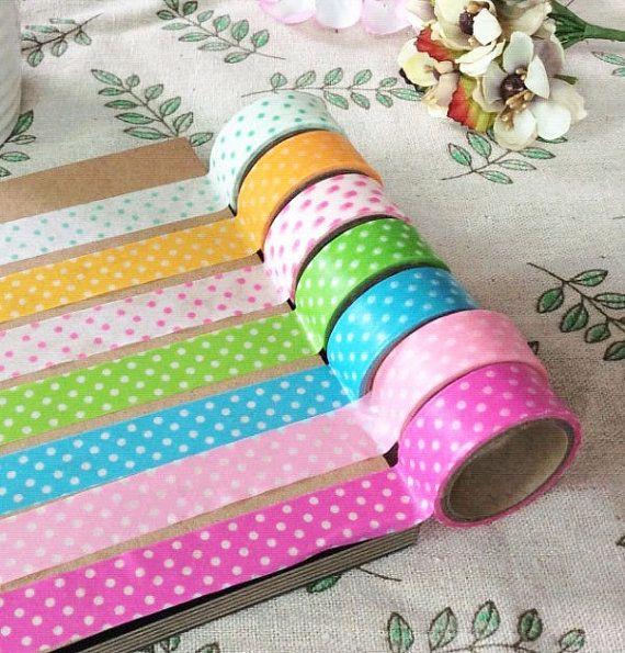 Polka Dot Washi Tape Rolls  3m Washi Tape by AaishasCreativeMess