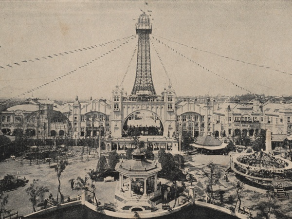 初代通天閣とルナパーク #Osaka #Japan #history Osaka Japan history