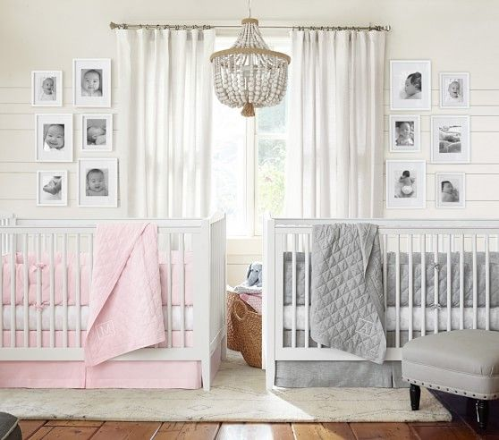 Linen Nursery Bedding | Pottery Barn Kids