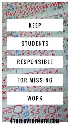 Check out how 1 Sheet can help you keep students responsible for missing work! This is a great idea!