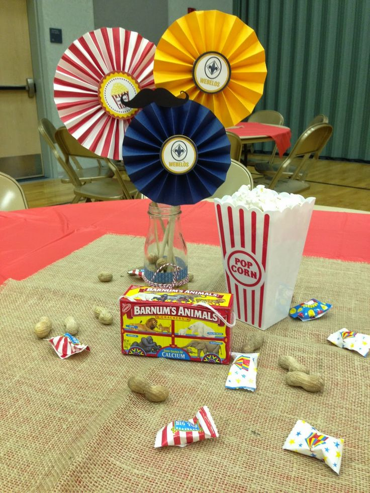 Larcie Bird: Cub Scout Blue and Gold Banquet {Carnival}