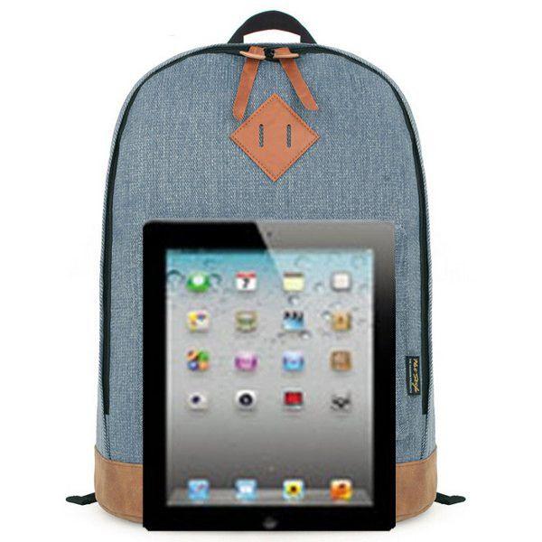 Pig Nose Denim Students Leisure Backpack Teenagers School Book Bags Rucksack