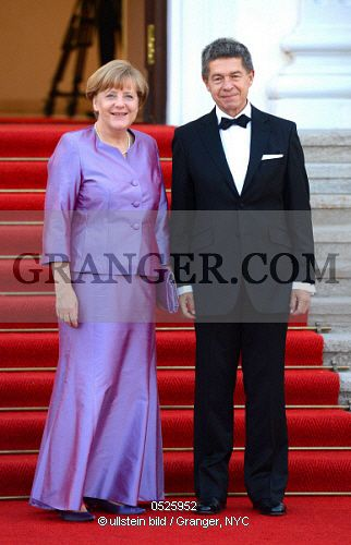 Chancellor Angela Merkel and husband Joachim Sauer