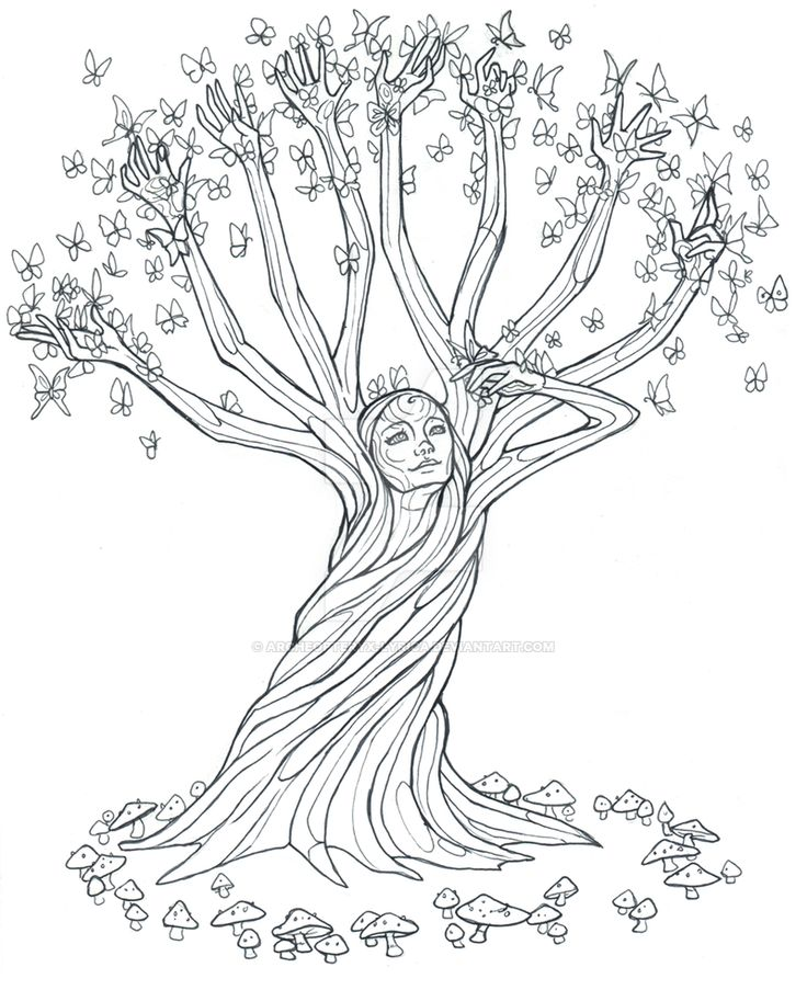 tree line coloring pages - photo#39