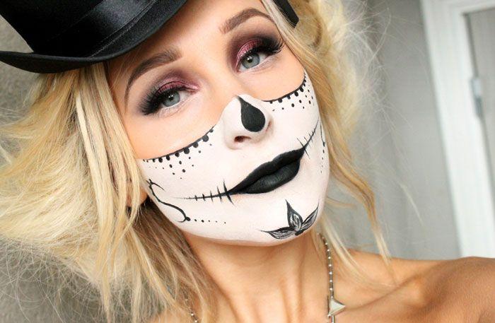 Dagens halloween makeup – SUGAR SKULL MASK | Helen Torsgården – Hiilens sminkblogg