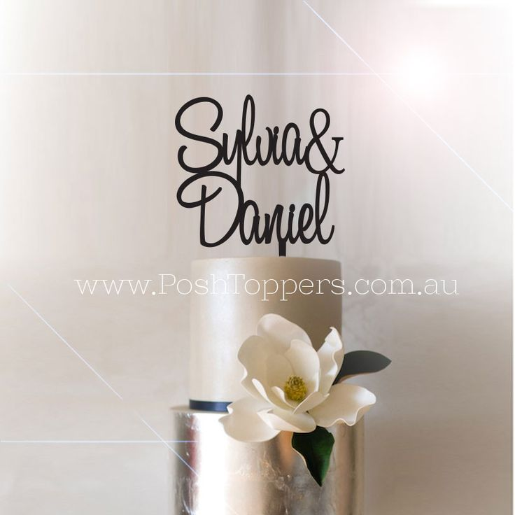 Custom Name & Name - Wedding Cake Toppers Australia