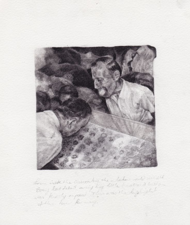 Becc Orszag, the picking room, pencil on paper 2013