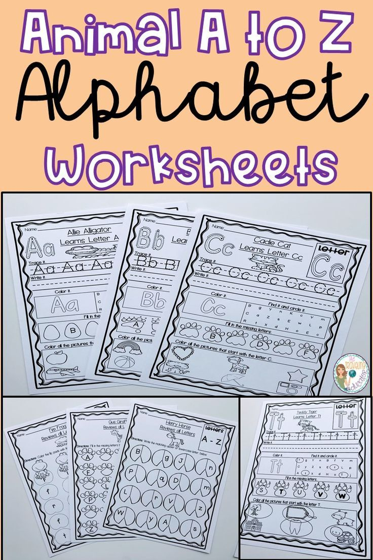 Check Out These Easy Prep Animal A To Z Alphabet Worksheets For Your Prescho Alphabet Worksheets Kindergarten Alphabet Worksheets Printable Alphabet Worksheets [ 1104 x 736 Pixel ]