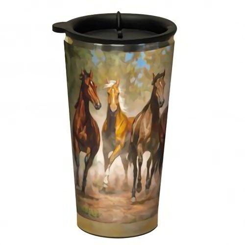 Horses Running Design Acrylic Stainless Steel Double Walled Travel Mug....$18.95