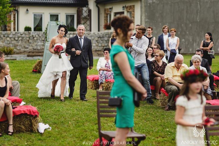 6. Rock Wedding,Outdoor ceremony / Rockowe wesele,Ceremonia w plenerze,Anioły Przyjęć