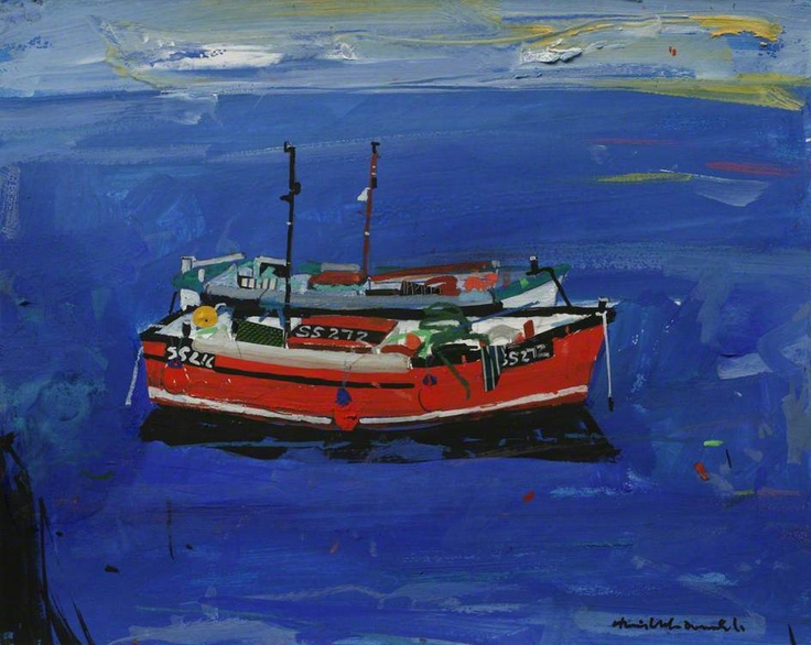 Boat at St Ives  Hamish MacDonald  photo credit: Royal Institution of Cornwall