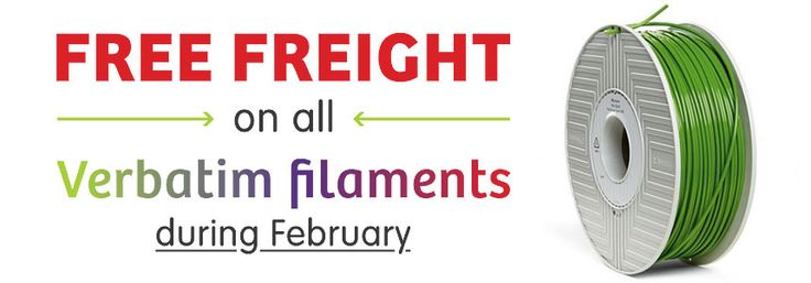 Deal of the month! #free freight on Verbatim #filament #perth #3dprinting #3dprint