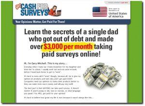 Get Cash for Surveys Review http://onlinestayathomejobs.com/get-cash-for-surveys-review #surveys #cashforsurveys #makemoneysurveys #reviews #scams #onlinescams #osahj