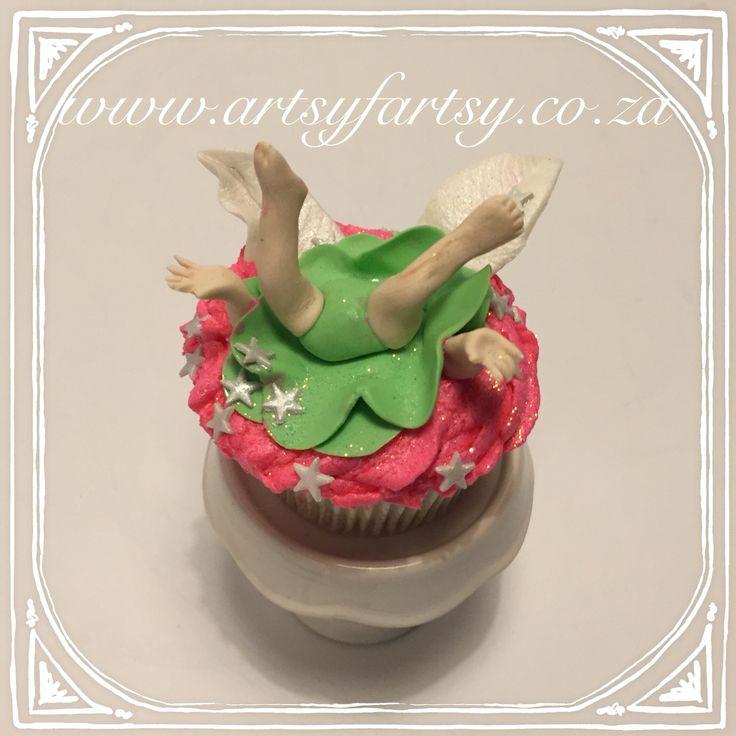 Upside Down Tinkerbell Fairy Cupcake #upsidedowntinkerbellcupcake