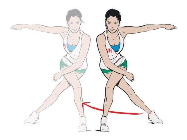 Lower Body Shred - lateral ice skaters. Do for 30 seconds; 30 seconds rest; repeat 3 times.
