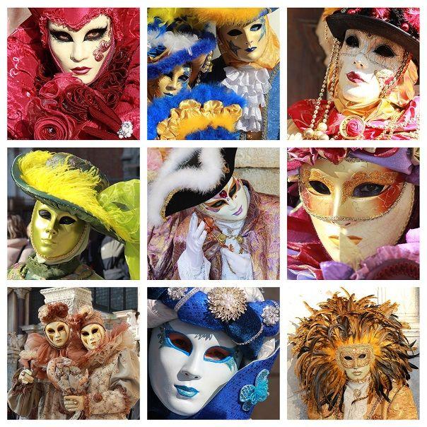 Kleurrijke Maskers Prachtig Papier Mach En Andere Kunst picture
