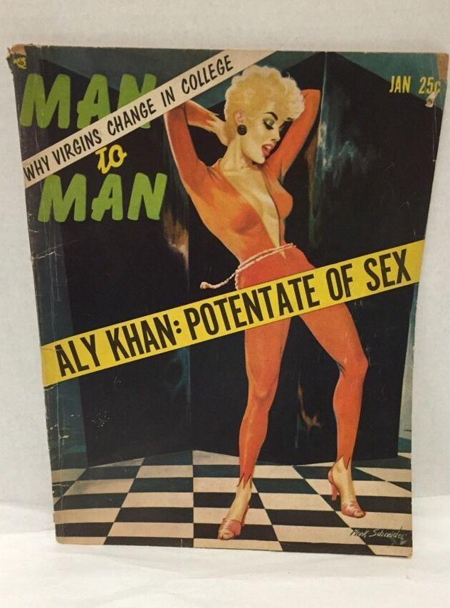 Man to Man Jan 1956 Stag Magazine Aly Khan Mark Schneider Floyd Patterson