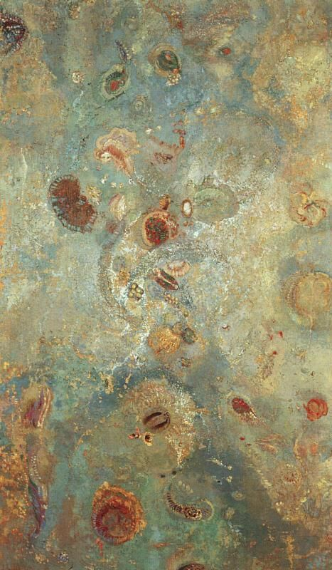 ♒ Art in the Abstract ♒  modern painting - Odilon Redon. Underwater Vision, 1910, oil on canvas.