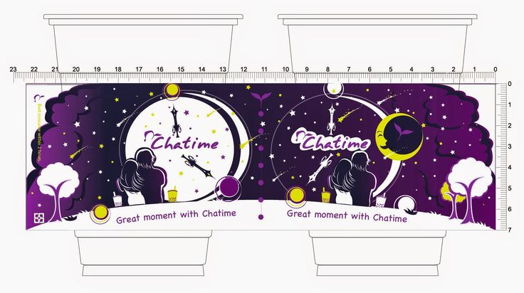 Denevue's Blog: Chatime Cup Design ~