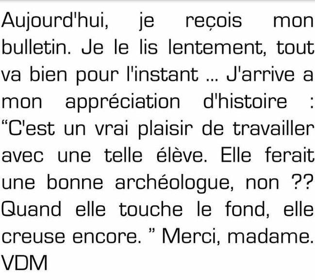 Merci madame...