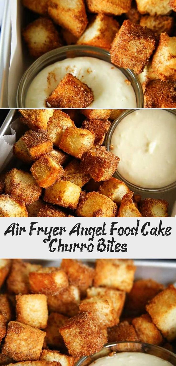 Air Fryer Angel Food Cake Churro Bites in 2020 Angel