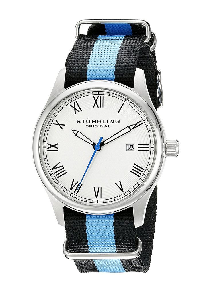 Stuhrling Original Unisex 5221 Gen X Liberty Stainless Steel Watch with Canvas Band *** Learn more by visiting the image link.