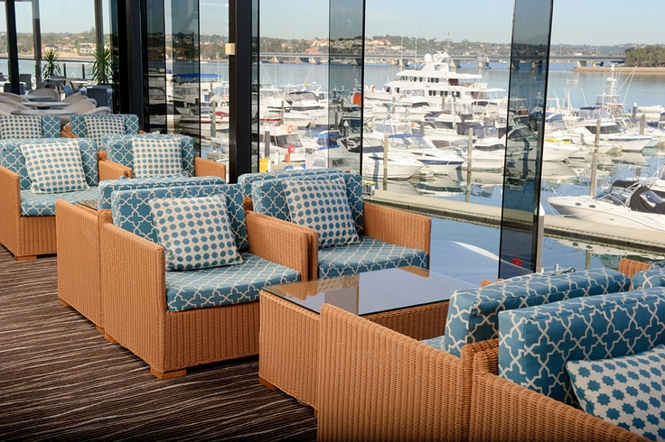 View from the Main Lounge at the St George Motor Boat Club