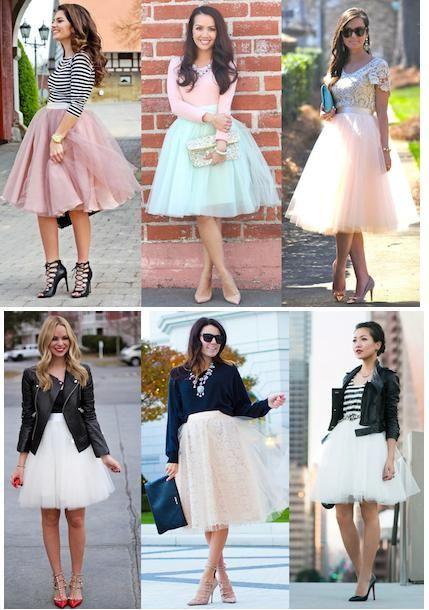 a8e2db704 Cómo combinar las faldas de tul - Tendencias moda 2018 - El Cómo de las  Cosas