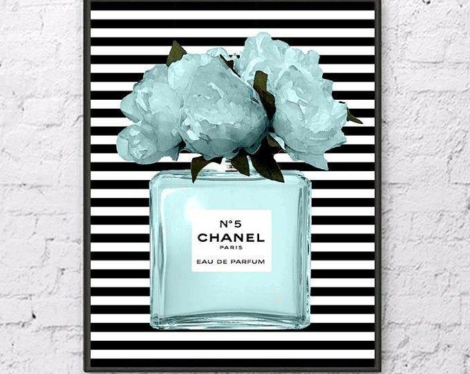 Chanel Print Fashion Art Chanel Logo Chanel Logo Print Etsy Fashion Wall Art Printables Chanel Perfume Chanel Print