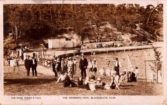 Blackheath pool N.S.W, history