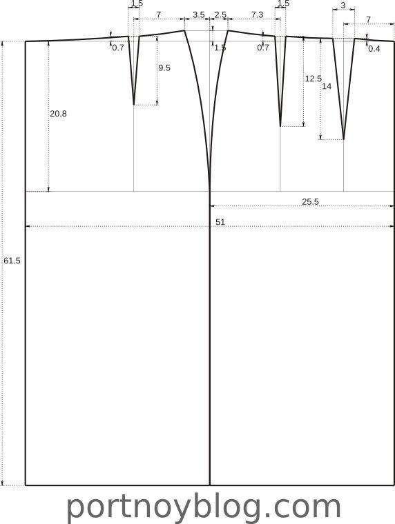 Базовый чертеж юбки по методике «Мюллер и сын»   Портной блог