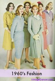 1960s Fashion for Women  A Cultural Fashion History.  Early 60's fashion was based on women's admiration of Mrs. Kennedy (not yet Jackie O ).