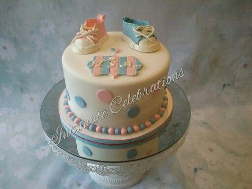 My reveal cake. Not sure of the original designer