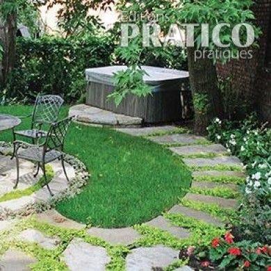 15 best Pas japonais images on Pinterest Stone walkway, Backyard - carrelage pour cour exterieure