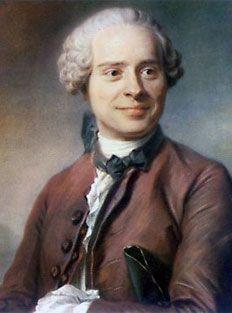 JEAN BAPTISTE LE ROND D'ALEMBERT, illuminista, matematico, fisico e filosofo francese (16 novembre 1717 - 29 ottobre 1783)