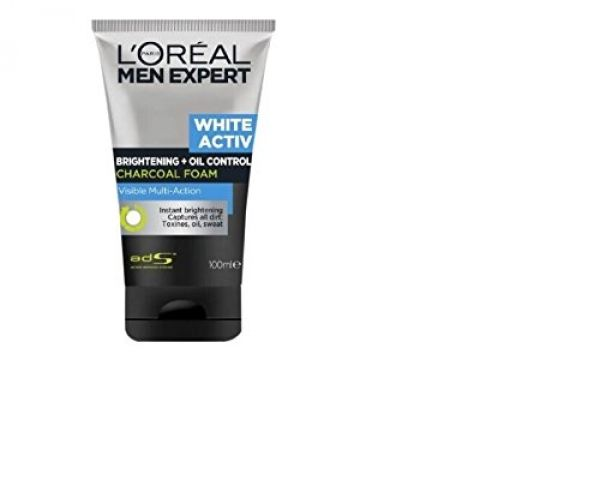 L'oreal Men Expert White Activ Oil Control Charcoal Foam from Amazon