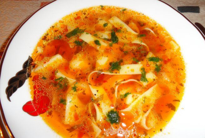Retete Culinare - Ciorba de cartofi cu fidea