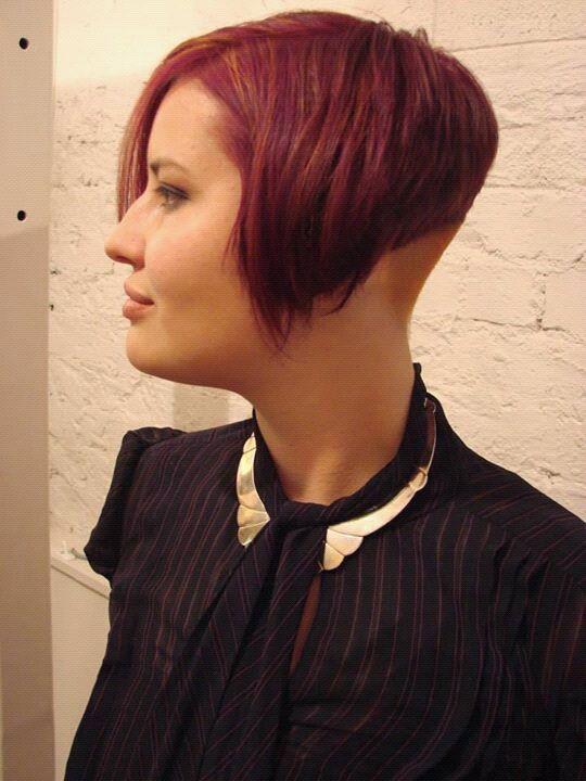 Steeply angled red bob | 32 - Haircut: Ultra-short bobs ...