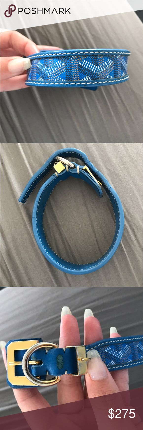 Goyard collar Auth Goyard dog collar. Very rare, signs of use but still in great condition. 16inches long. See all photos. This collar retails for 800+ at Barneys NYC Goyard Accessories