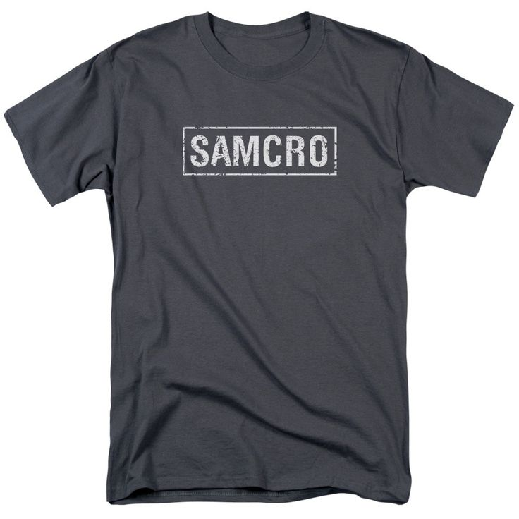 Sons Of Anarchy/Samcro Short Sleeve Adult T-Shirt 18/1 in Charcoal