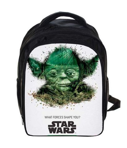 13 Inch Star Wars Jedi Knight Master Yoda Backpack For Boys School Bags Kids Daily Backpacks Children Book Bag Bags Schoolbags