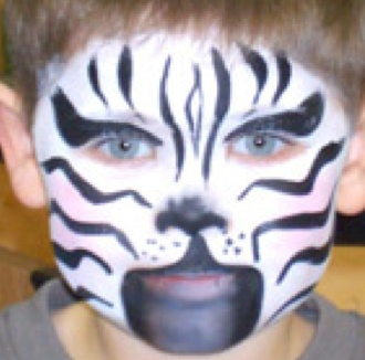 Zebra Face Painting